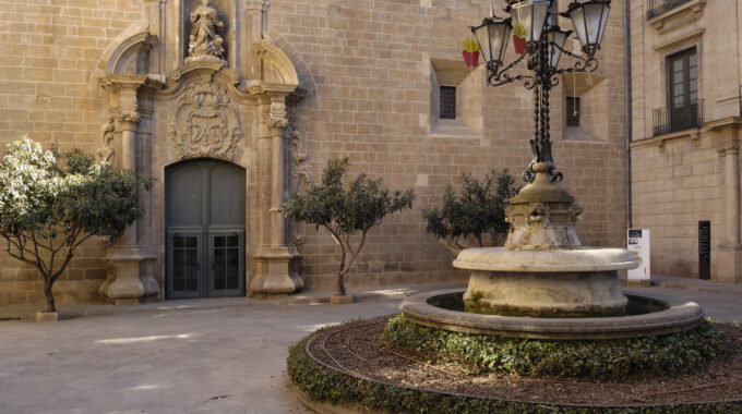 Square,Anf,Episcopal,Palace,,Solsona,,Lleida,Province,,Spain